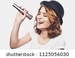 lifestyle and people concept ... | Shutterstock . vector #1125056030