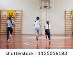 primary school students a sport ... | Shutterstock . vector #1125056183