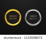 gold and silver round frame.... | Shutterstock .eps vector #1125058073
