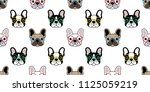 dog seamless pattern french... | Shutterstock .eps vector #1125059219