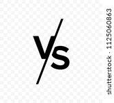 vs versus letters vector logo... | Shutterstock .eps vector #1125060863