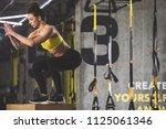 full length side view orderly... | Shutterstock . vector #1125061346