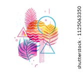 template geometric design for... | Shutterstock .eps vector #1125063350