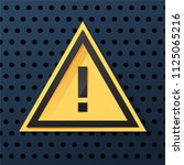 warning dangerous attention... | Shutterstock .eps vector #1125065216
