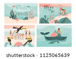hand drawn vector abstract... | Shutterstock .eps vector #1125065639