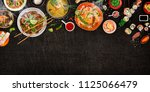 various of asian meals on... | Shutterstock . vector #1125066479