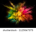 colored powder explosion... | Shutterstock . vector #1125067373