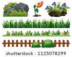 a set of garden element... | Shutterstock .eps vector #1125078299