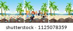 a set of beach cleaning... | Shutterstock .eps vector #1125078359