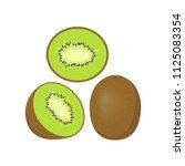kiwi icon  sliced kiwi icon... | Shutterstock .eps vector #1125083354