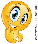 emoticon making a grrr gesture   Shutterstock .eps vector #1125084083