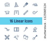 industrial icon set and work...
