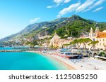 morning view of amalfi... | Shutterstock . vector #1125085250