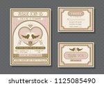 wedding invitation card vector...   Shutterstock .eps vector #1125085490