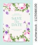invitation vertical card.... | Shutterstock .eps vector #1125088100