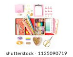 organizer with stylish... | Shutterstock . vector #1125090719