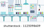 the conveyor for the production ... | Shutterstock .eps vector #1125098609