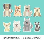 sticker collection of different ... | Shutterstock .eps vector #1125104900