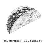 vector engraved style... | Shutterstock .eps vector #1125106859