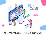 coding people team work... | Shutterstock . vector #1125109970