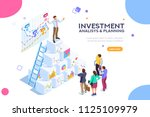 investment and virtual finance. ... | Shutterstock . vector #1125109979
