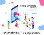 social media concept with... | Shutterstock . vector #1125110003