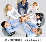 view from above of business... | Shutterstock . vector #112511714