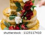 "wedding outdoor ""naked"" cake... | Shutterstock . vector #1125117410"