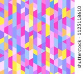 polygonal pattern. colorful... | Shutterstock .eps vector #1125118610