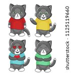 cute cat animal mascot with... | Shutterstock .eps vector #1125119660