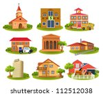 different buildings and places | Shutterstock .eps vector #112512038