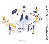 modern flat design isometric... | Shutterstock .eps vector #1125121793