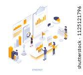 modern flat design isometric... | Shutterstock .eps vector #1125121796
