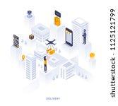 modern flat design isometric... | Shutterstock .eps vector #1125121799