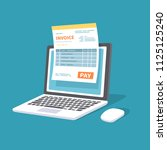 online payment service. invoice ... | Shutterstock .eps vector #1125125240