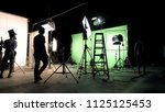 behind the scenes of tv... | Shutterstock . vector #1125125453