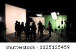 behind the scenes of tv... | Shutterstock . vector #1125125459