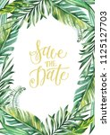 save the date    card ... | Shutterstock . vector #1125127703