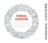 financial accounting circle... | Shutterstock .eps vector #1125131306