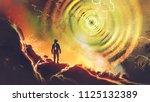 sci fi scene showing the man... | Shutterstock . vector #1125132389
