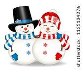 Pair Of Christmas Snowmen ...