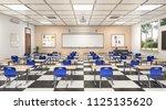 Classroom Interior. 3d...