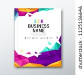 cover book business name... | Shutterstock .eps vector #1125136646