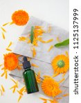 marigold or calendula essential ... | Shutterstock . vector #1125137999
