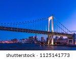 town in tokyo at dusk | Shutterstock . vector #1125141773