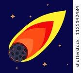 flame meteorite of flight in... | Shutterstock .eps vector #1125142484