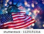 celebrating independence day.... | Shutterstock . vector #1125151316