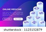 online medicine  telemedicine... | Shutterstock .eps vector #1125152879