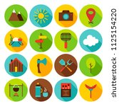summer camping circle icons set.... | Shutterstock .eps vector #1125154220