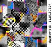 abstract random grunge pattern... | Shutterstock .eps vector #1125157529